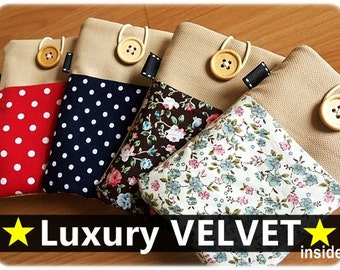 Luxury SUPER SOFT inside -  iphone sleeve, iphone 4 sleeve, iphone 5 sleeve, ipod touch sleeve, ipod classic sleeve, iphone 6 sleeve