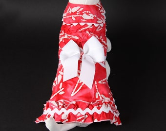 SAMPLE SALE:  Dog Dress - Red Batik