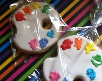 Paint Palette/Art Party Sugar Cookies (2Dozen)