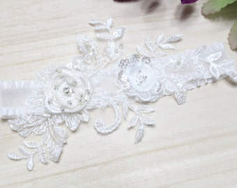 Lace garter, Wedding garter, Bridal garter, Keepsake garter, Single garter, Bride garter