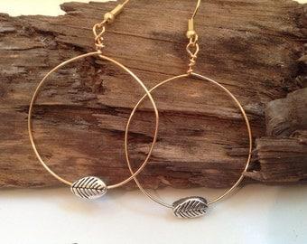 Silver, and Gold Hoop Earrings