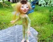 Garden Elf Krysta HANDMADE Sprite Faerie Fairy Doll