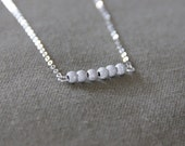 Cassiopée • Silver necklace with its sparkly tiny beads