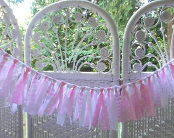 Mini Fabric Garland-Pinks