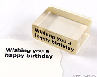 Wishing you a happy birthday Rubber Stamp