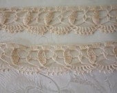 COFFEE and CREAM Lace Trim for Pillow cases  Vintage never used