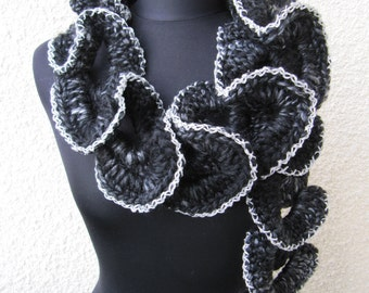 CROCHET PATTERN Chunky Scarf, Ruffle Scarf Pattern Unique Design, DIY Fashion Scarf, Instant Download Lyubava Crochet Pdf Pattern No.115