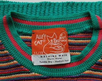 1970s Alley Cat by Betsey Johnson cotton knit sweater vest