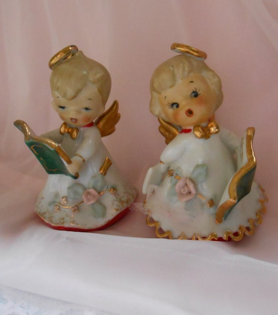 Vintage Ceramic Christmas Carolers Choir Boy And Girl: Vintage LEFTON Christmas Porcelain Naughty By PipisPeculiars