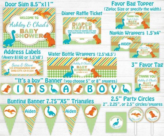 dinosaur baby shower invitation dino boy diaper party, Baby shower invitation
