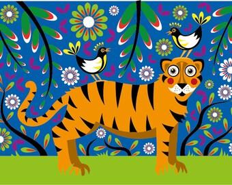 Children's print - Tiger