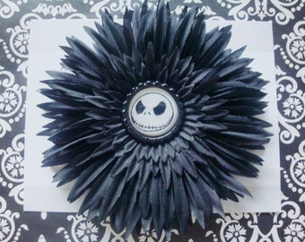 Black skeleton hairclip, girls hairclip
