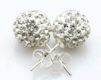 Crystal Disco Ball Studs Earrings (10mm)