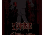 Zombie Walking Dead Halloween Wine or Spirits Label Custom & Personalized Available