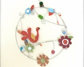 Round Wall Art, Bird Wall Hanging