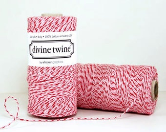 Peppermint Divine Twine Baker's Twine 240 Yards, Full Spool