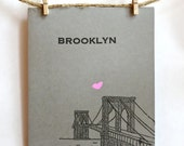 Brooklyn Bridge - Heart card