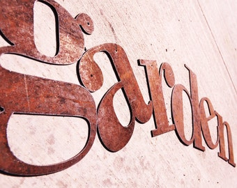 "Rusty Metal Letters 18"" sizing"