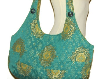 32- Bag, Handmade, Purse, color green