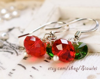 Genuine Swarovski Crystal Apple Jewelry