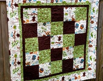 Custom Baby Quilt Using Bridesmaid Dress Fabric - Repurpose, Upcycle, Memory Quilt