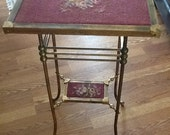 Circa 1880 brass Aesthetic Movement center table, attributed to the Charles Parker Co. of Meriden, Connecticut