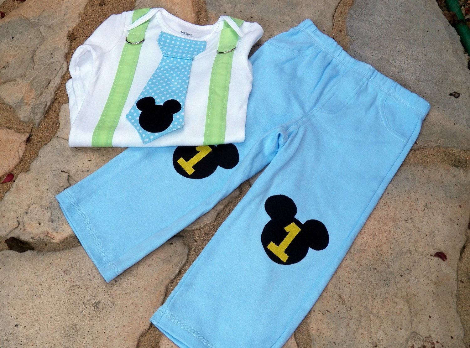 Baby Mickey Mouse 1st Birthday Shirt