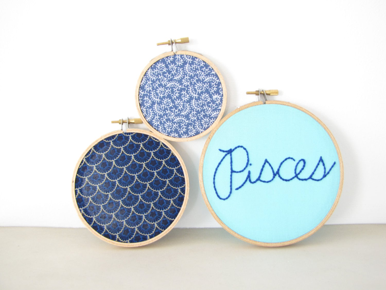Embroidery hoop wall art home decor set by athenaandeugenia
