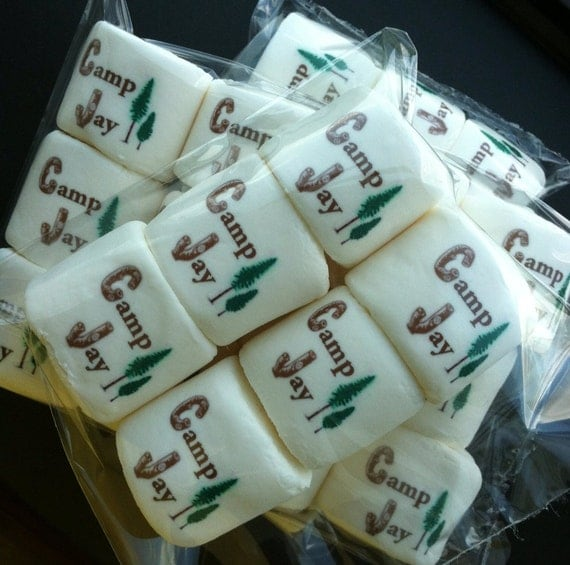 Unique Custom Logo Marshmallows Camping Party Or Any Theme