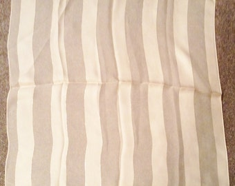 Square silk scarf, beige.