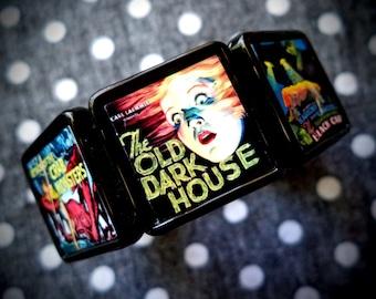 Retro Horror Films collage bracelet