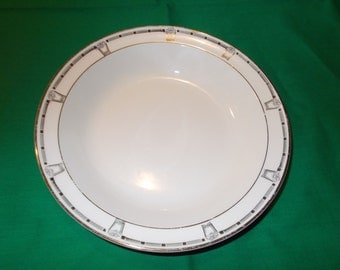 """One (1), 7 3/4"""" Rimmed Soup Bowl, from Taylor, Smith, Taylor, in the 1169 Pattern, Circa 1936."""