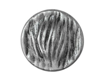 3 Riverside Grasses 9/16 inch ( 15 mm ) Metal Buttons Antique Silver Color