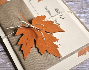 Fall wedding invites | Etsy
