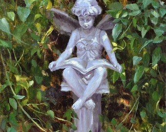 Popular items for fairy statue on etsy Reading fairy garden statue
