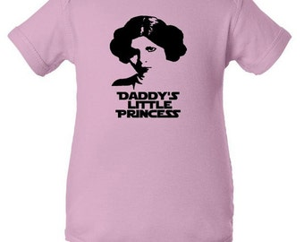 Daddy's Little Princess Infant Bodysuit Creeper One Piece Funny Baby Shower Gift - Pink