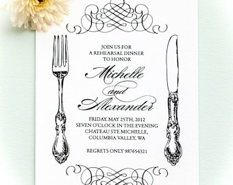 Printable rehearsal dinner invitation