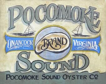 Pocomoke Sound Oyster print