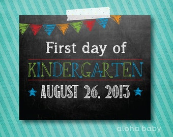 First day of Kindergarten printable for BOY