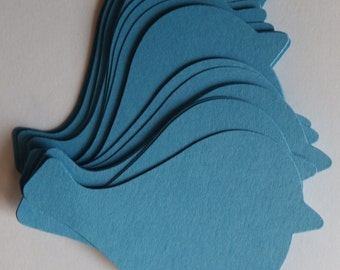50 Blue Birds,Punch,Die Cuts,Scrapbook,Embellishments,Card Making,Tags,Wishing Tree Tags