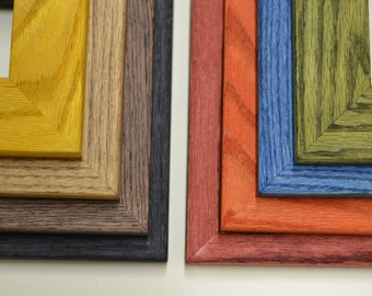 "Square Stained 2"" Face Oak Frames-4"""