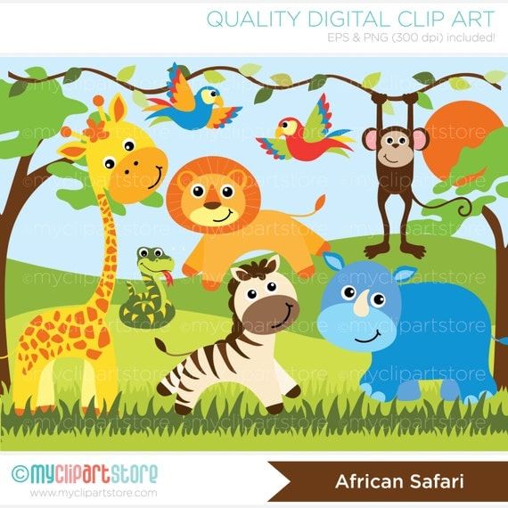 clipart jungle safari - photo #14
