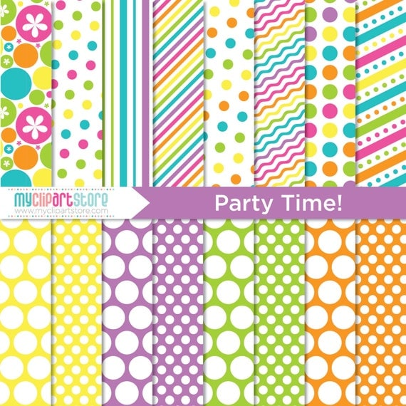 Digital Paper - Party Time - Instant Download