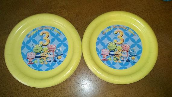 Henry Hugglemonster Plates for birthday parties