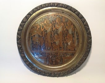 Egyptian  Brass wall hanging