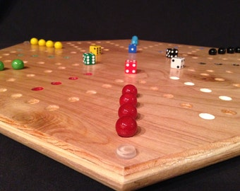 Aggravation Game Board, Double sided - 4-Player and 6-Player, plywood - Special Order