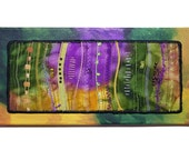 Thread Art Quilted Wall Hanging Textile Fiber Art