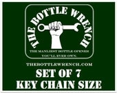 SET OF 7 Key Chain Sized - The Bottle Wrench Bottle Opener