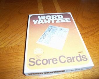 Vintage 1978 Milton Bradley word Yahtzee score cards