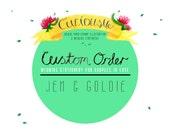 Custom Listing for Jen & Goldie - Custom piece - Unique hand drawn wedding stationery